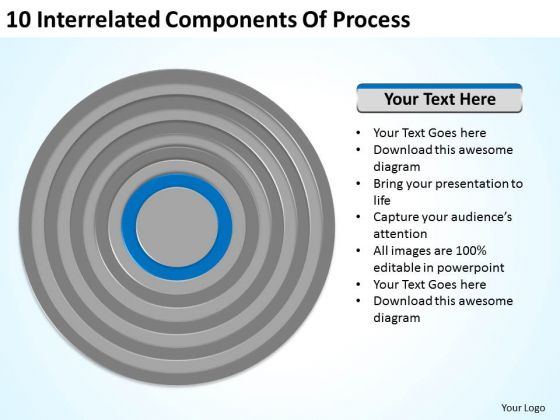 10 Interrelated Components Of Process Ppt How To Do Business Plan PowerPoint Slides