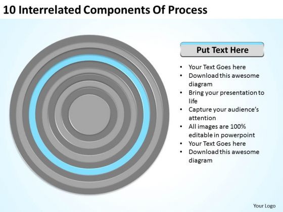 10 Interrelated Components Of Process Ppt Small Business Plan PowerPoint Templates