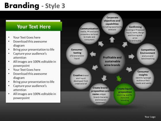 10 Spheres Wheel And Spoke Diagram PowerPoint Slides