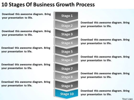 Stages Of Business Growth Process Ppt Continuity Plan Template - Growth business plan template