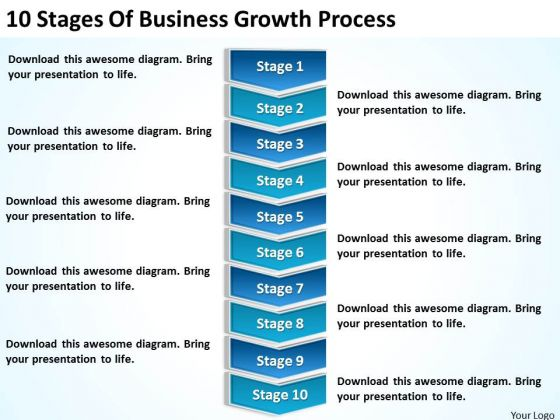 10 Stages Of Business Growth Process Ppt Create Plan PowerPoint Templates