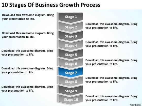 10 Stages Of Business Growth Process Ppt Plans For Powerpoint