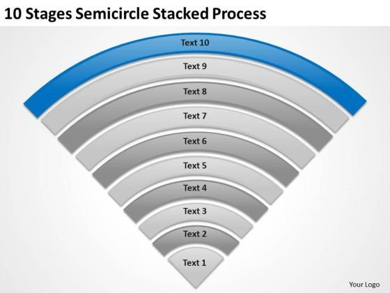 10 Stages Semicircle Stacked Process Ppt Business Planning PowerPoint Templates
