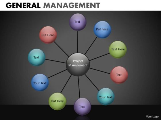10 Stages Wheel Network Diagram PowerPoint Slides Star Diagram Ppt Templates