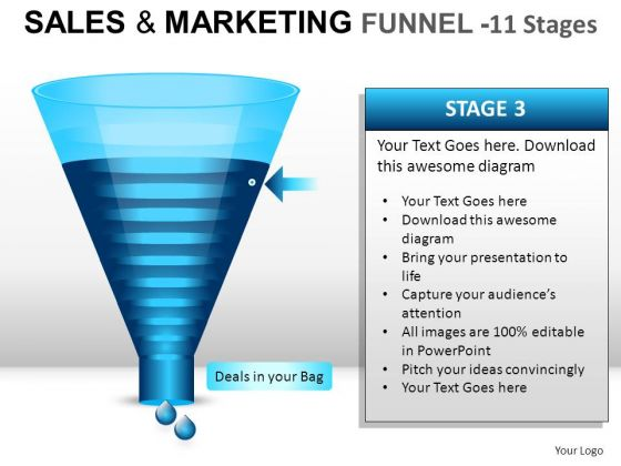 11 Stage Editable Conversion Strategy-funnel PowerPoint Slides And Ppt Diagram Templates