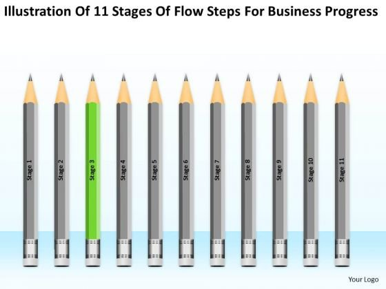 11 Stages Flow Steps For Business Progress Personal Training Plan PowerPoint Slides
