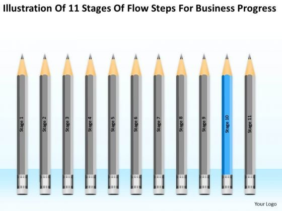 11 Stages Flow Steps For Business Progress Ppt Best Plan PowerPoint Templates