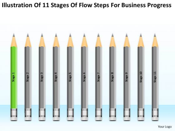 11 Stages Flow Steps For Business Progress Ppt Busniess Plan PowerPoint Templates