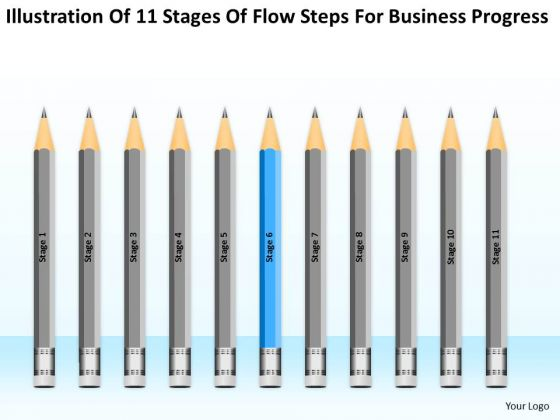 11 Stages Flow Steps For Business Progress Ppt How To Type Plan PowerPoint Templates