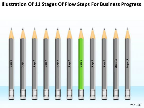 11 Stages Flow Steps For Business Progress Ppt Plan PowerPoint Slides