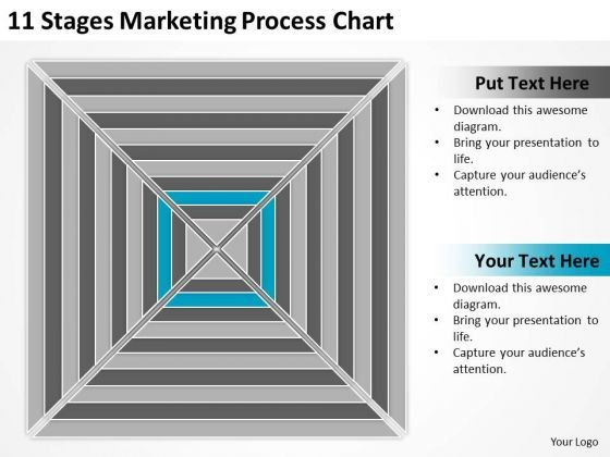 11 Stages Marketing Process Chart Business Plan PowerPoint Slides