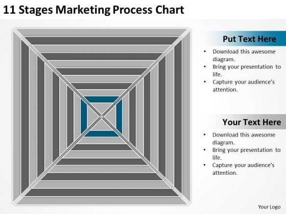 11 Stages Marketing Process Chart Business Plan Sample PowerPoint Templates