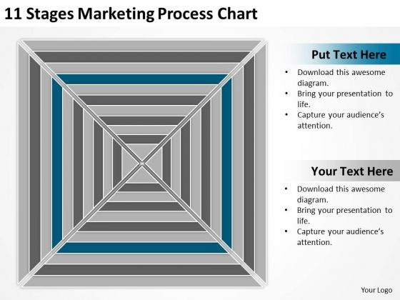 11 Stages Marketing Process Chart Ppt Business Plan Ideas PowerPoint Templates
