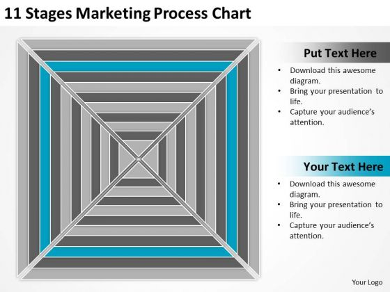 11 Stages Marketing Process Chart Ppt Business Plan PowerPoint Slides