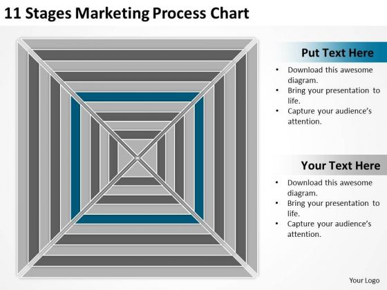 11 Stages Marketing Process Chart Ppt Business Plan PowerPoint Templates