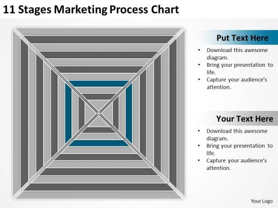 11 Stages Marketing Process Chart Ppt Business Plans PowerPoint Templates