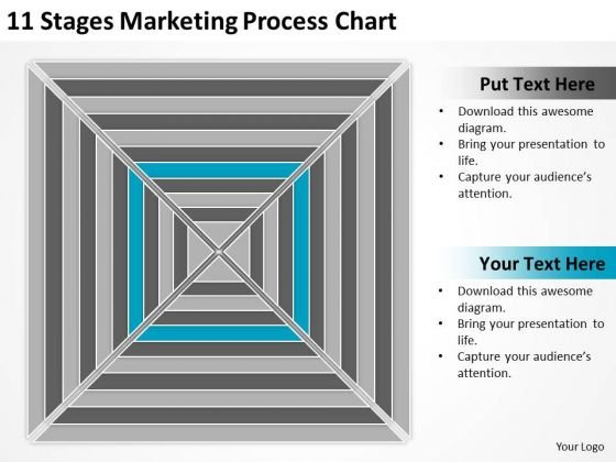 11 Stages Marketing Process Chart Ppt Business Plans Template PowerPoint Slides