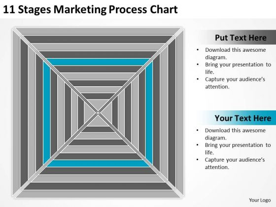 11 Stages Marketing Process Chart Ppt Components Of Business Plan PowerPoint Slides