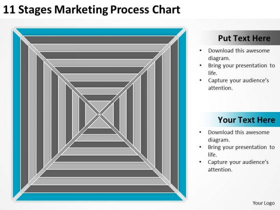 11 Stages Marketing Process Chart Ppt Drafting Business Plan PowerPoint Slides