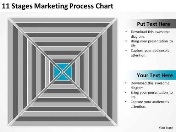 11 Stages Marketing Process Chart Ppt Example Of Small Business Plan PowerPoint Templates