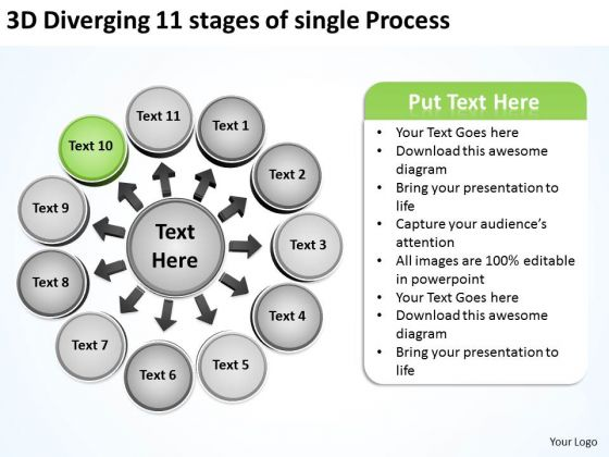 11 Stages Of Single Process Ppt Relative Circular Flow Arrow Diagram PowerPoint Slides