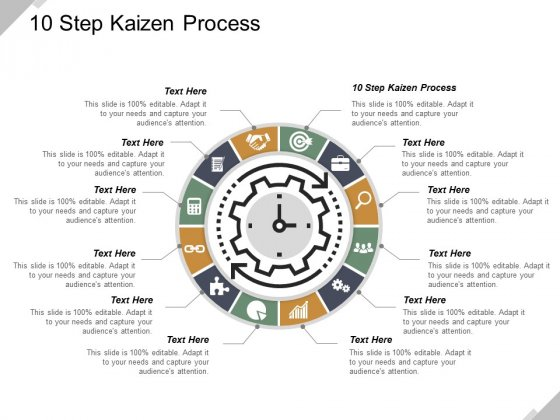 12 Step Kaizen Process Ppt PowerPoint Presentation Inspiration Skills Cpb