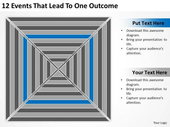 12 Events That Lead To One Outcome Ppt Business Plan PowerPoint Slides