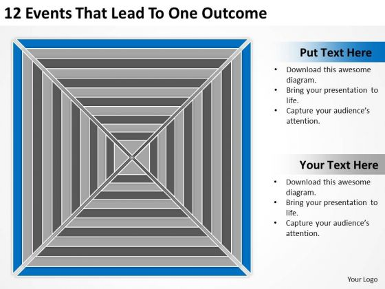 12 Events That Lead To One Outcome Ppt How Business Plan PowerPoint Slides