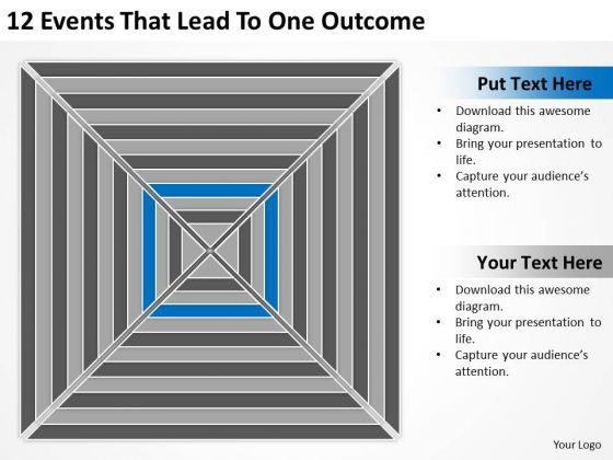 12 Events That Lead To One Outcome Ppt Professional Business Plan Writers PowerPoint Templates