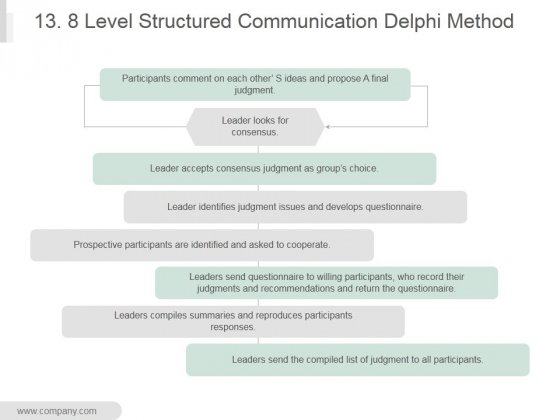 13 8 Level Structured Communication Delphi Method Ppt PowerPoint Presentation Graphics