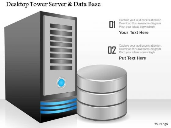1_desktop_tower_server_and_database_by_the_side_showing_compute_and_storage_ppt_slides_1 desktop powerpoint templates, slides and graphics desktop computer diagram at fashall.co