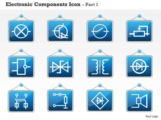 1 Electronic Components Icon Part 1 Ppt Slides