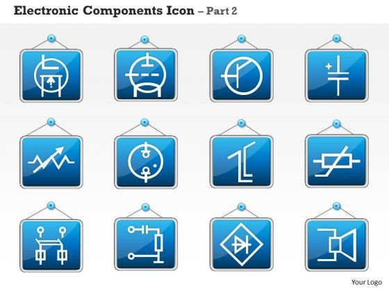 1 Electronic Components Icon Part 2 Ppt Slides