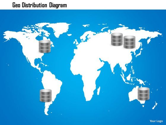 1 Geo Distribution Diagram Storage Networking With Databases Geographically Ppt Slide