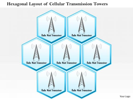 1 Hexagonal Layout Of Cellular Transmission Towers With Radio Mast Receiver Ppt Slide
