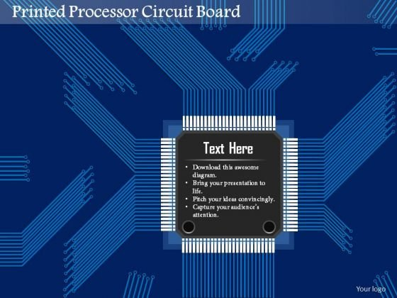 1 Printed Processor Circuit Board Engineering Production Of Microelectronics Ppt Slides
