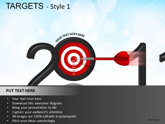 2011 Goals PowerPoint Slides And Ppt Template Diagrams