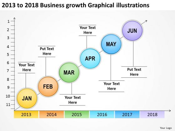 2013 To 2018 Business Growth Graphical Illustration PowerPoint Templates Ppt Slides Graphics