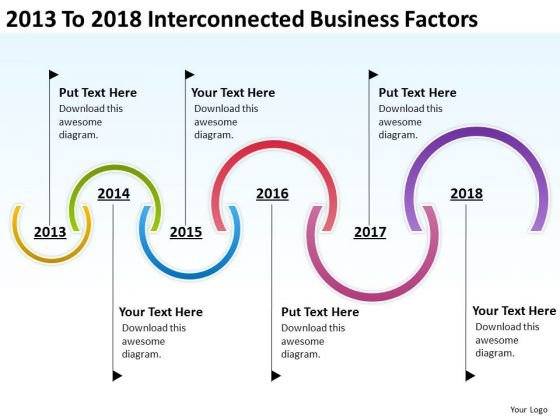 2013 To 2018 Interconnected Business Factors PowerPoint Templates Ppt Slides Graphics