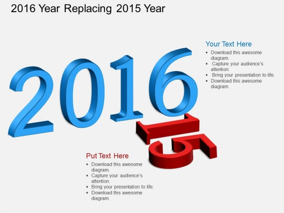 2016 Year Replacing 2015 Year Powerpoint Template