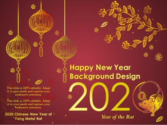 2020 Happy New Year Background Design Ppt PowerPoint Presentation Professional Vector