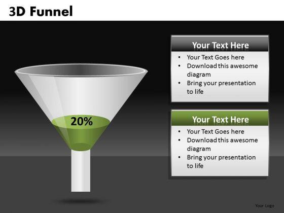 20 Percent Editable 3d Funnel Diagram PowerPoint Slides Ppt Templates