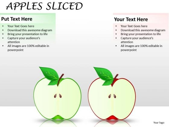 2 Halves Apple PowerPoint Slides And Ppt Diagram Templates