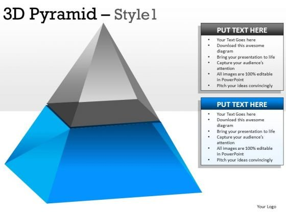 2 Stage 3d Pyramid 1 PowerPoint Slides And Ppt Diagrams Templates