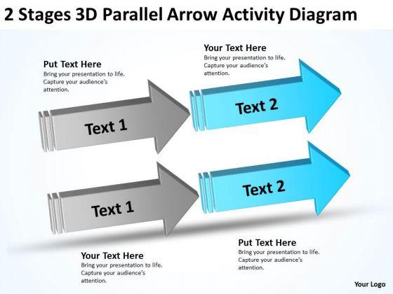 2 Stages 3d Parallel Arrow Activity Diagram Ppt Professional Business Plans PowerPoint Templates