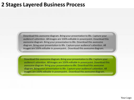 2 Stages Layered Business Process Examples Of Plan PowerPoint Templates