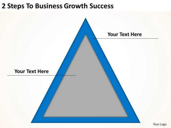 2 Steps To Business Growth Success Ppt Online Plans PowerPoint Templates