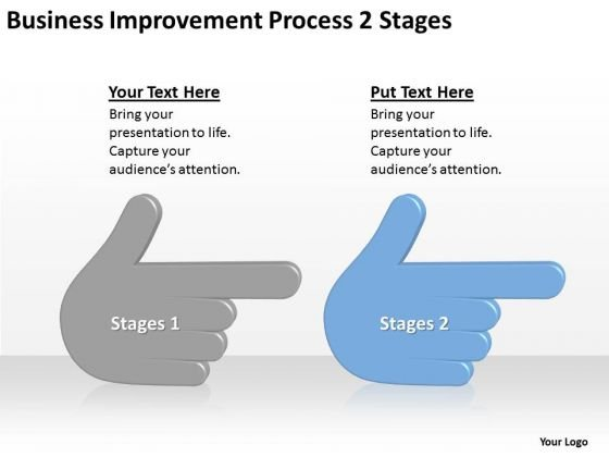 2business Improvement Process Stages Ppt Linear Flow PowerPoint Templates