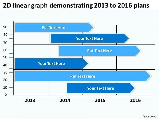 2d Linear Graph Demonstrating 2013 To 2016 Plans PowerPoint Templates Ppt Slides Graphics