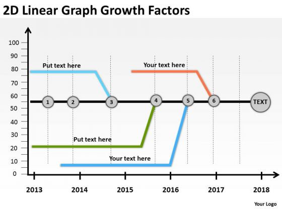2d Linear Graph Growth Factors PowerPoint Templates Ppt Slides Graphics